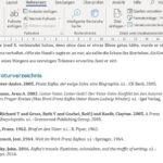 Literaturverzeichnis erstellen